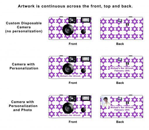 Star of David (large star) Custom Disposable Camera