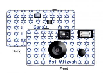 Star of David (Small stars) Custom Disposable Camera