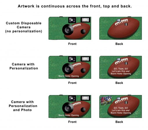 Touchdown Custom Disposable Camera