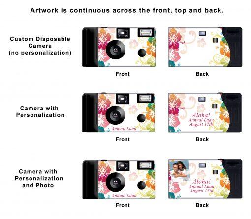 Tropical Hibiscus Custom Disposable Camera