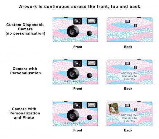 Waves Of Love Custom Disposable Camera
