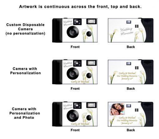 Calla Lilies Custom Disposable Camera
