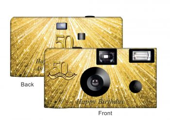 Your Numbered Birthday Custom Disposable Camera