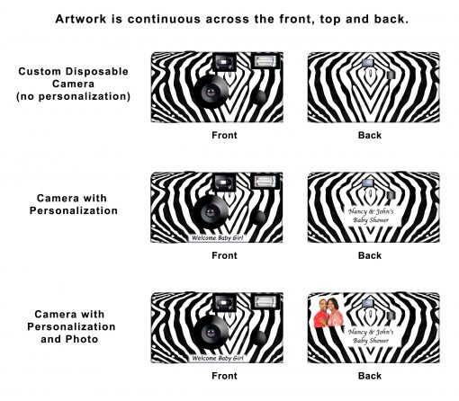 Zebra Custom Disposable Camera