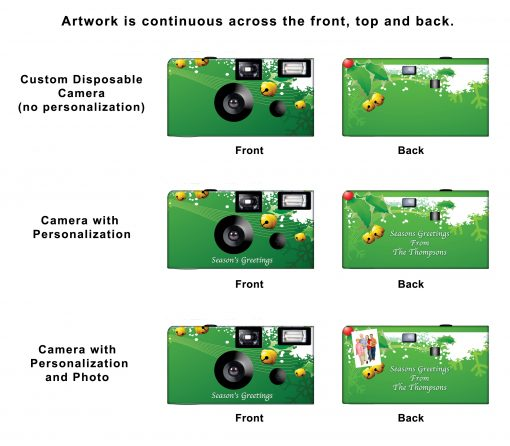 A Green Christmas Custom Disposable Camera