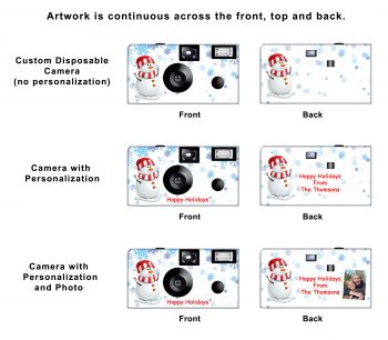 Snowman Custom Disposable Camera