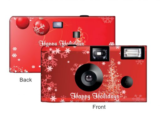 A Red Christmas Custom Disposable Camera