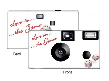 Love Game Custom Disposable Camera