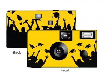 Graduation in Yellow Custom Disposable Camera