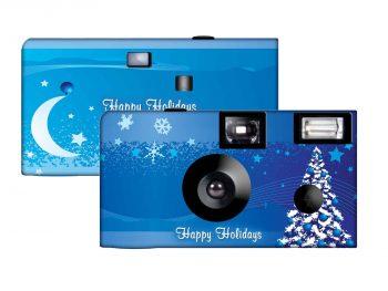 A Blue Christmas Custom Disposable Camera