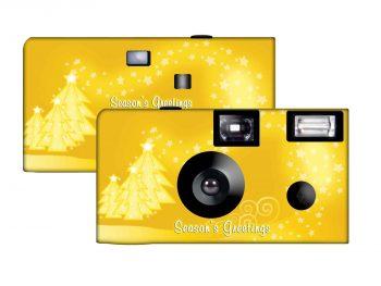 A Gold Christmas Custom Disposable Camera