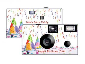 A Happy Birthday Custom Disposable Camera