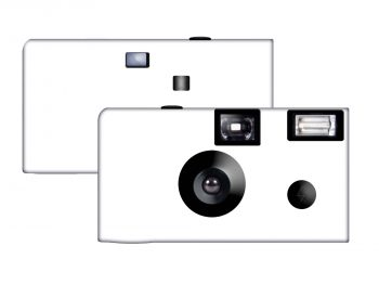 All White Custom Disposable Camera