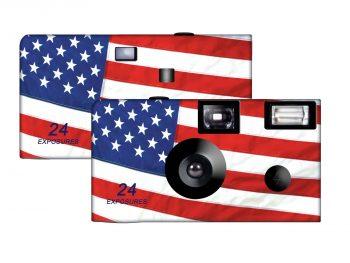 American Flag Standard Disposable Camera