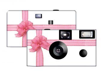 Beautiful Pink Ribbon Custom Disposable Camera