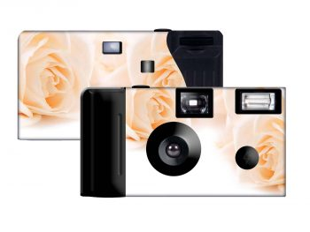Coral Roses Custom Disposable Camera