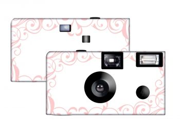 Elegant Wedding Custom Disposable Camera (Pink)