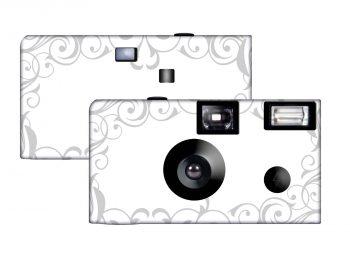 Elegant Wedding Custom Disposable Camera (Silver)