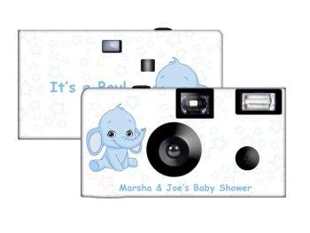 Elephant in Blue Custom Disposable Camera