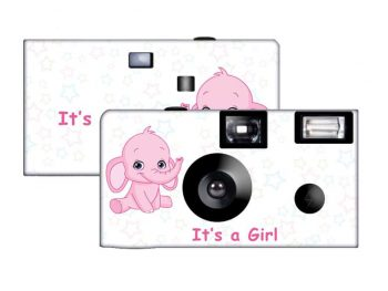 Elephant in Pink Custom Disposable Camera