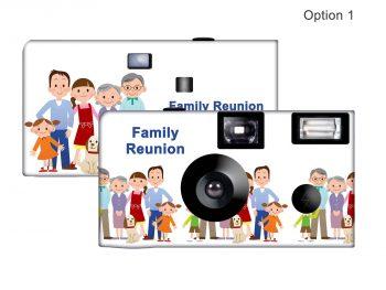 Family Reunion 2 Custom Disposable Camera