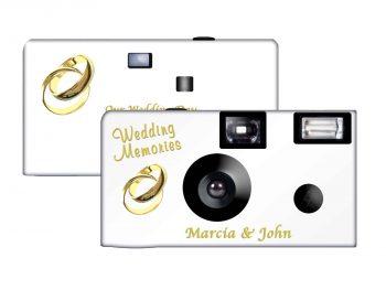 Gold Rings Custom Disposable Camera