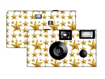 Gold Starburst Custom Disposable Camera