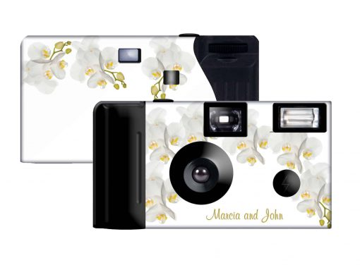 Ivory Orchid Custom Disposable Camera