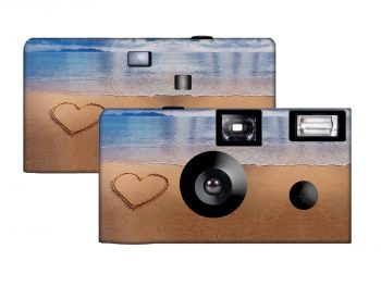 Love in the Sand Custom Disposable Camera