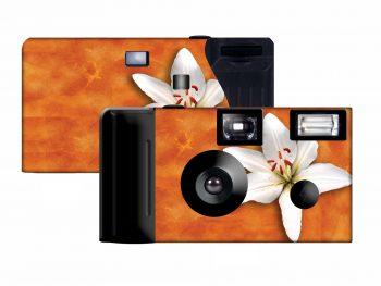 Orange Lily Custom Disposable Camera