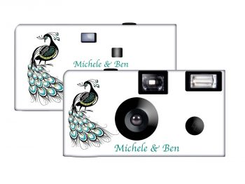 Peacock Custom Disposable Camera