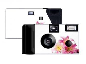 Pink Lilies Custom Disposable Camera