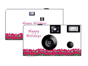 Poinsettia Custom Disposable Camera