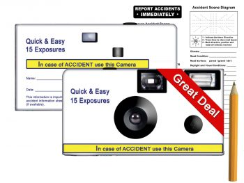 Quick and Easy 15 Exposure Accident Camera Kit