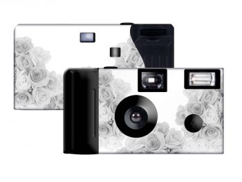 Silver Roses Custom Disposable Camera