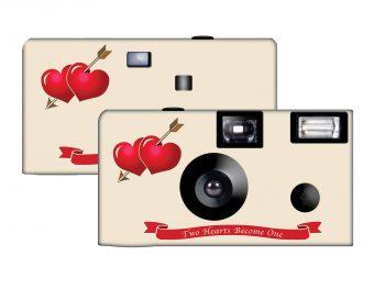 Two Hearts Custom Disposable Camera