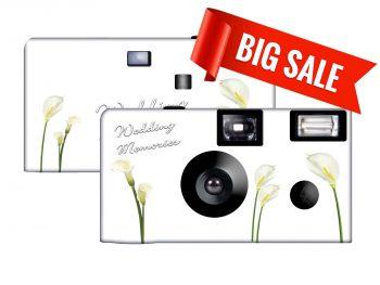 Wedding Memories Calla Lilies Disposable Camera SPECIAL PURCHASE