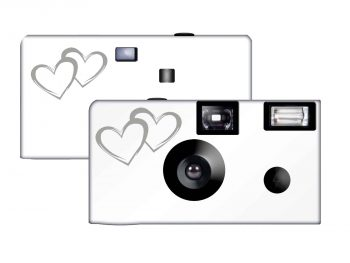 Wedding Memories Coupled Hearts Disposable Camera