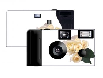 White Roses Custom Disposable Camera